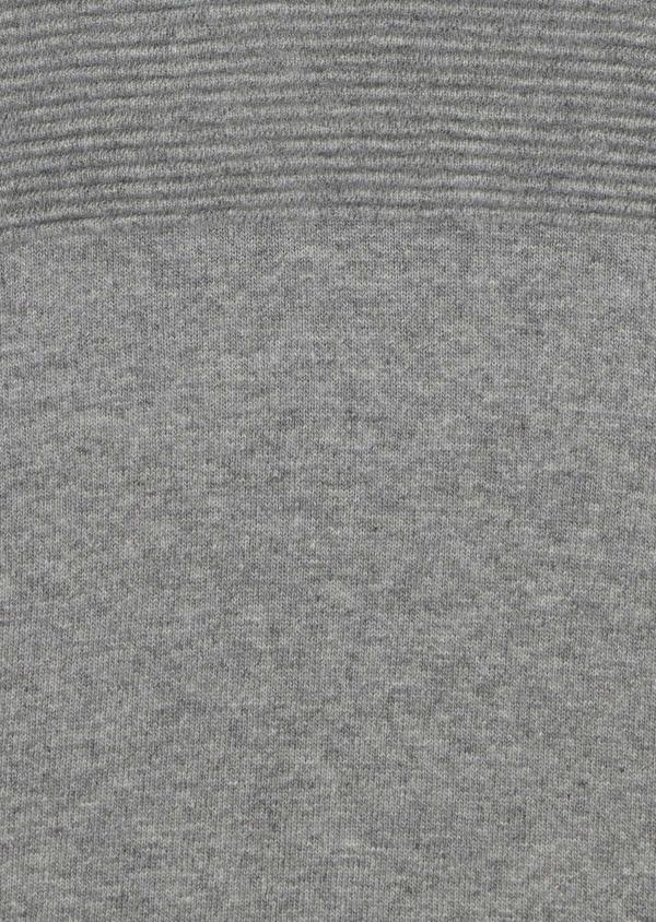Pull en laine mélangée col rond uni gris clair - Father and Sons 35419