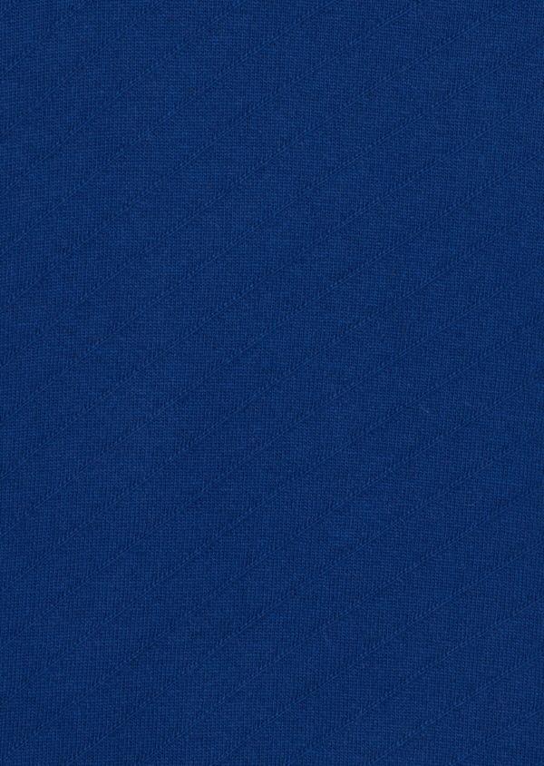Pull en laine mélangée col rond bleu à rayures diagonales ton sur ton - Father and Sons 35414