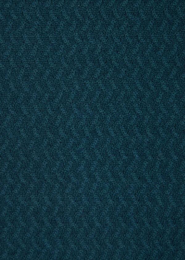 Gilet zippé en coton et cachemire uni bleu - Father and Sons 36178