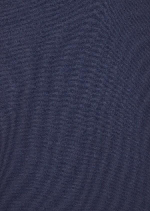 Pull polo à manches courtes uni bleu indigo - Father and Sons 38835