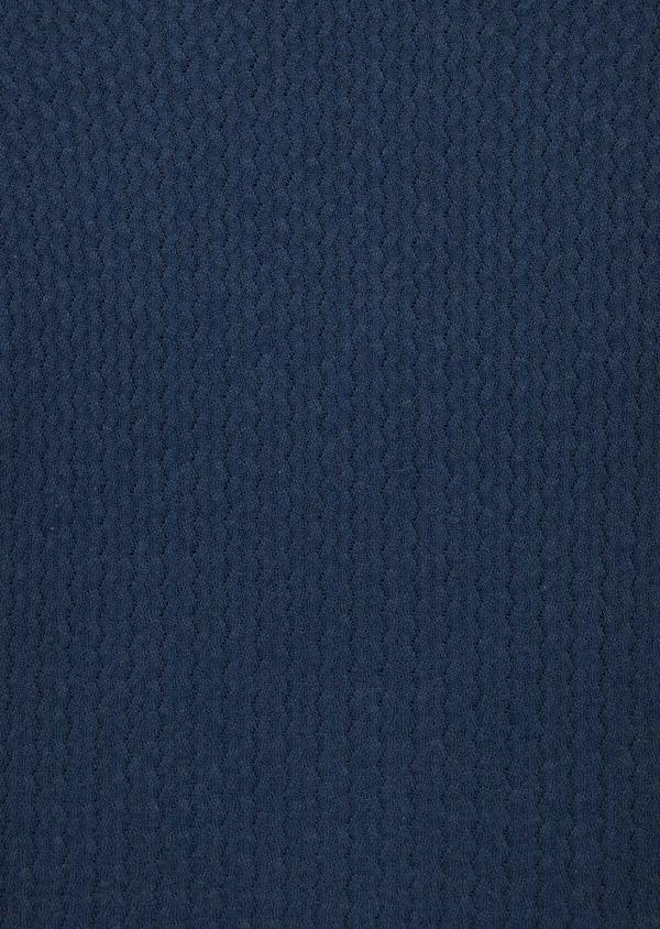 Pull en coton mélangé à col V uni bleu indigo - Father and Sons 40083