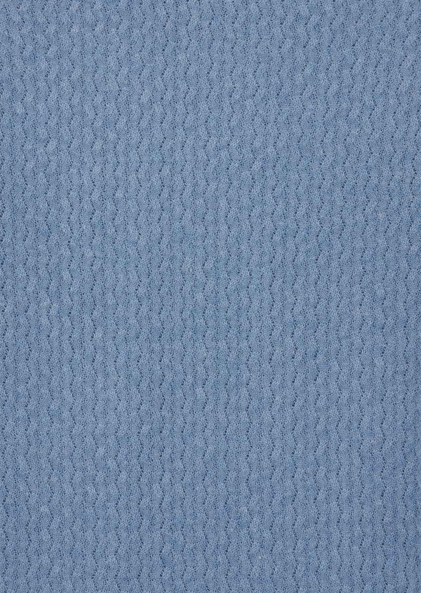 Pull en coton mélangé à col V uni bleu ciel - Father and Sons 39938