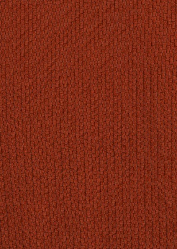 Pull en coton à col rond uni orange foncé - Father and Sons 39406