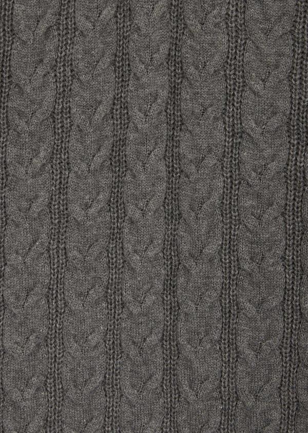 Pull en coton à col zippé uni gris - Father and Sons 39933