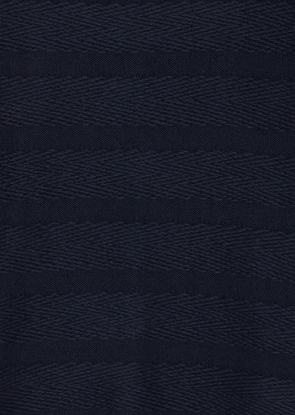 Pull en coton mélangé col rond uni bleu indigo - Father and Sons 27020