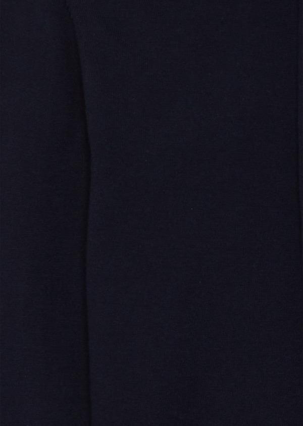 Gilet à capuche en coton uni bleu marine - Father and Sons 38800
