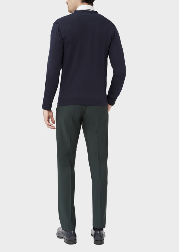Cardigan en coton uni marine - Father and Sons 38865