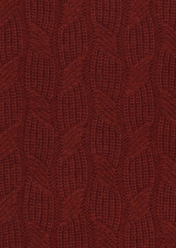 Pull en laine mérinos col rond uni bordeaux - Father and Sons 28097