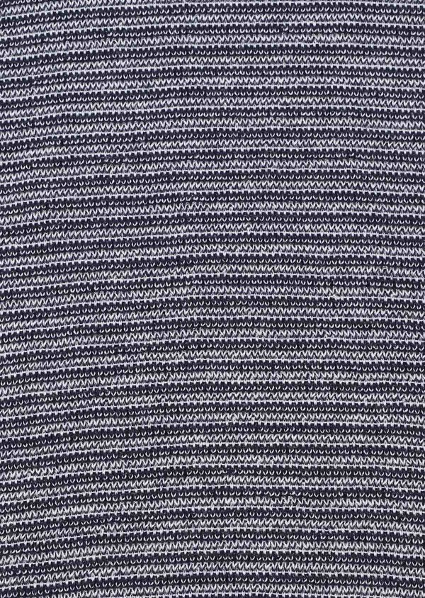 Pull en coton et cachemire col rond uni bleu marine - Father and Sons 33483