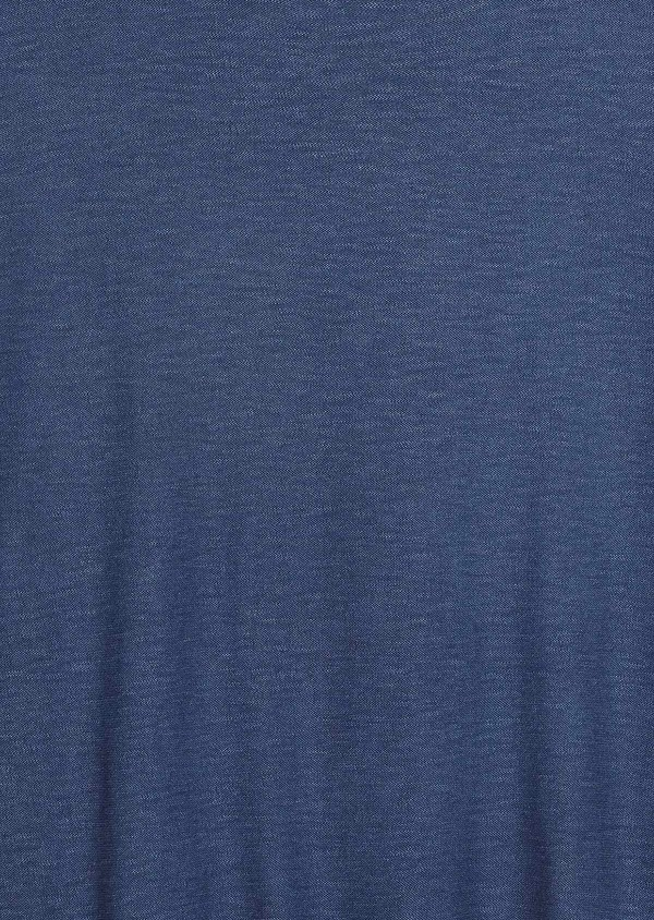 Pull en coton col rond uni bleu - Father and Sons 33499