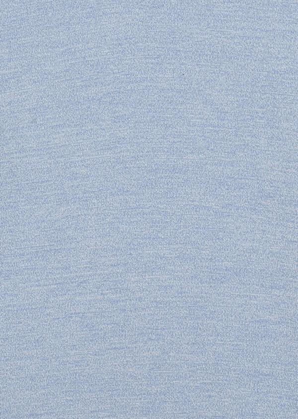 Pull en coton col V uni bleu ciel - Father and Sons 34535
