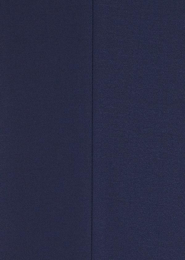Smoking Slim en laine unie bleu indigo - Father and Sons 35490