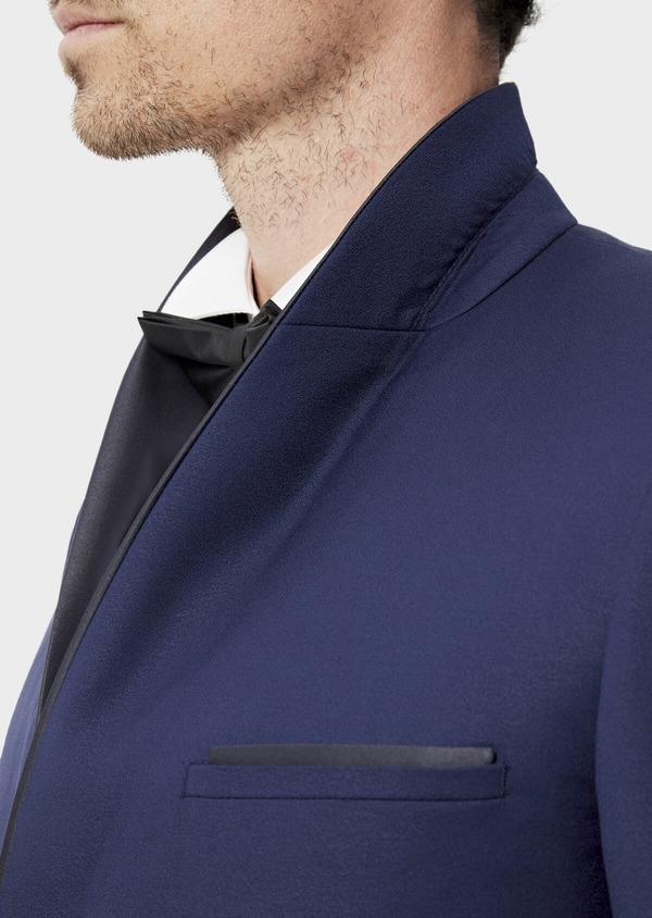Smoking Slim en laine unie bleu indigo - Father and Sons 35493
