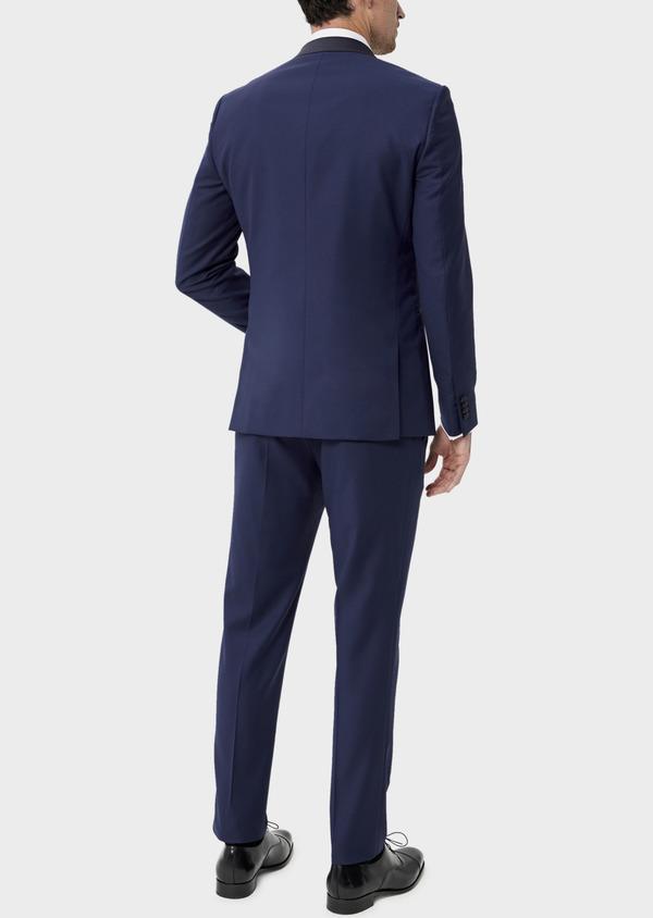 Smoking Slim en laine unie bleu indigo - Father and Sons 35492
