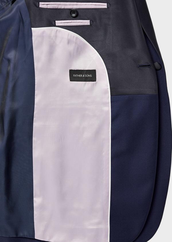 Smoking Slim en laine unie bleu indigo - Father and Sons 35495