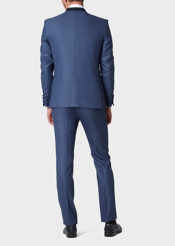 Smoking Slim en laine unie bleue - Father and Sons 34181