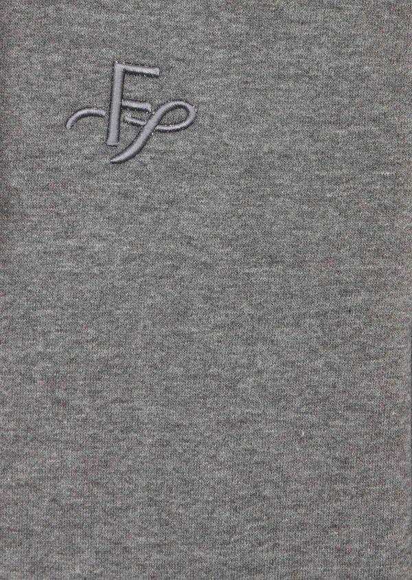 Sweat en coton mélangé gris à capuche - Father and Sons 39948