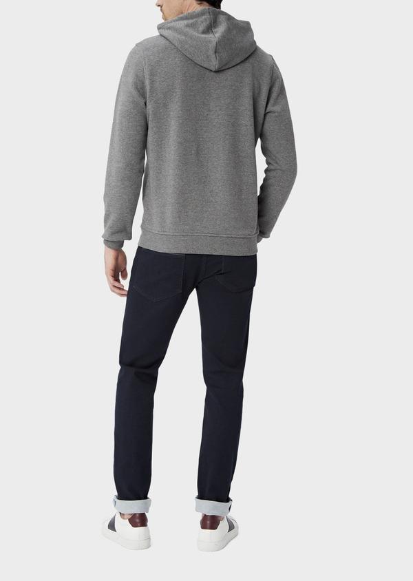 Sweat en coton mélangé gris à capuche - Father and Sons 39950