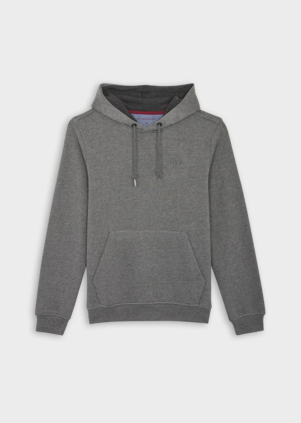 Sweat en coton mélangé gris à capuche - Father and Sons 39947