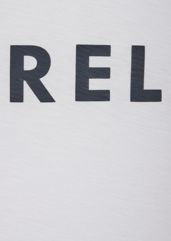 Tee-shirt manches courtes en coton col rond blanc à imprimé - Father and Sons 39417