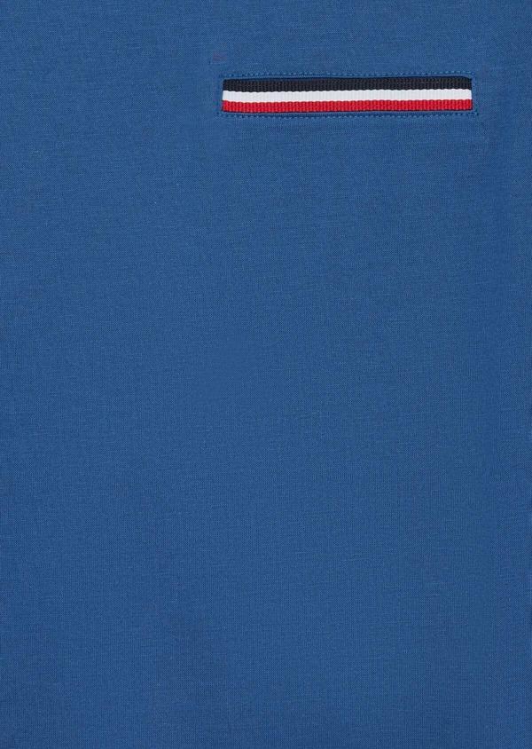 Tee-shirt manches courtes en coton uni col rond bleu - Father and Sons 38868
