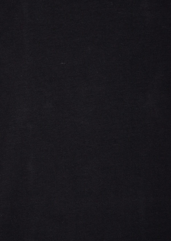 Tee-shirt manches courtes en coton stretch col rond uni noir - Father and Sons 37200