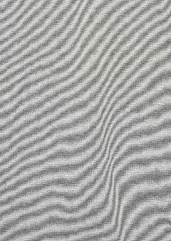 Tee-shirt manches courtes en coton col tunisien uni vert kaki - Father and Sons 39411