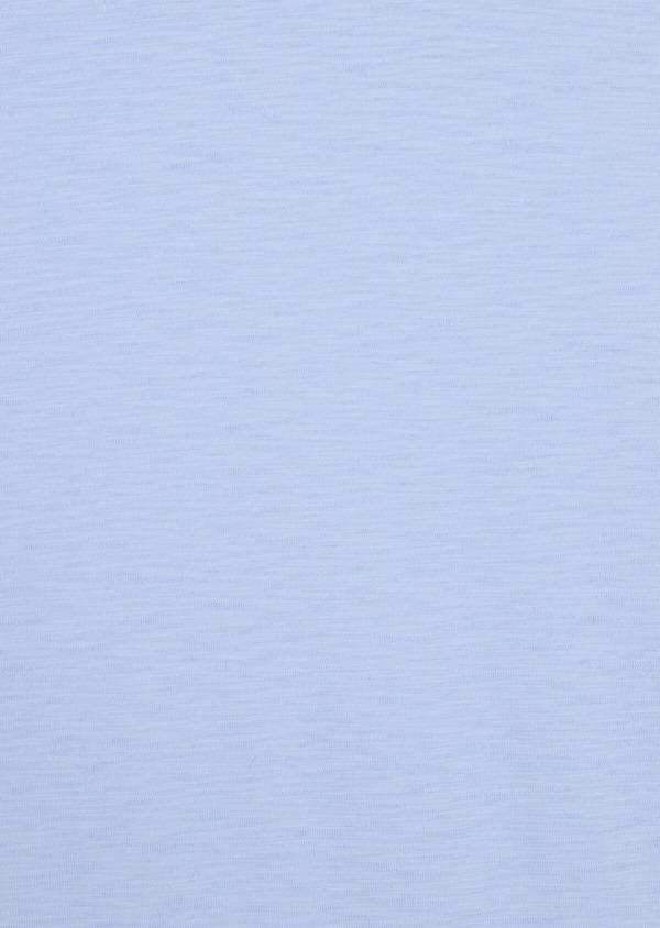 Tee-shirt manches courtes en coton col rond uni bleu ciel - Father and Sons 34579