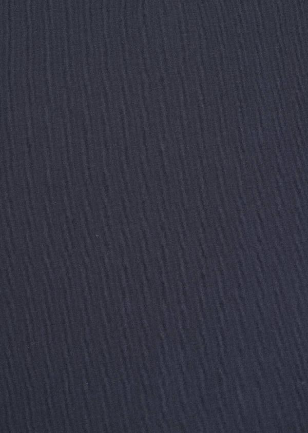 Tee-shirt manches courtes en coton col mao uni bleu marine - Father and Sons 34575