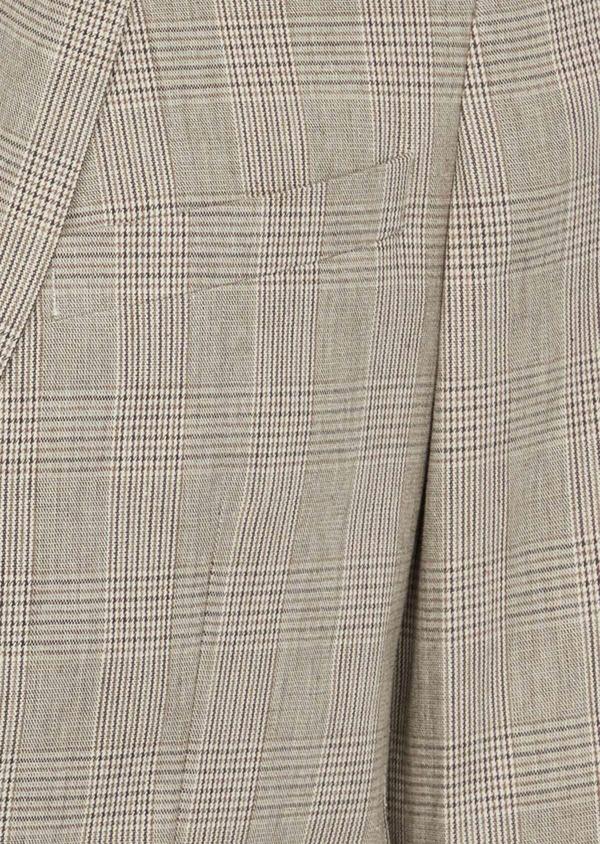 Veste casual Regular en coton marron Prince de Galles - Father and Sons 38914