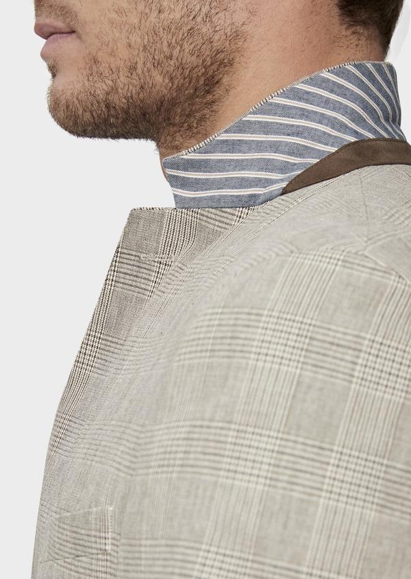 Veste casual Regular en coton marron Prince de Galles - Father and Sons 38917