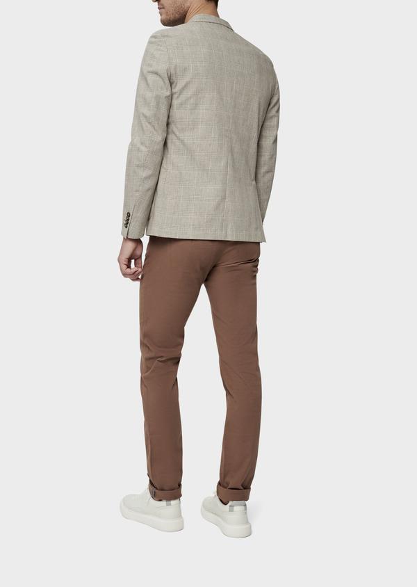 Veste casual Regular en coton marron Prince de Galles - Father and Sons 38916