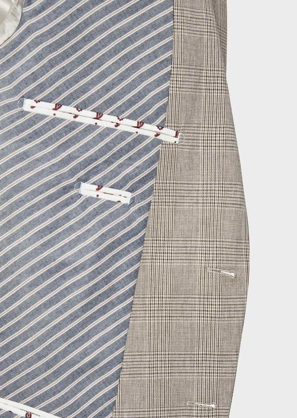Veste casual Regular en coton marron Prince de Galles - Father and Sons 38919