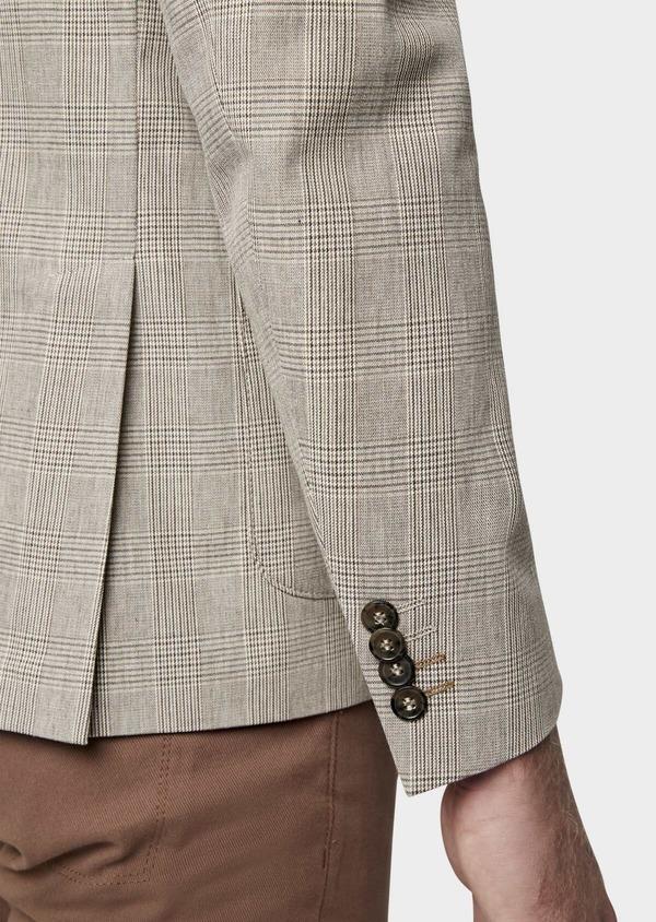 Veste casual Regular en coton marron Prince de Galles - Father and Sons 38918
