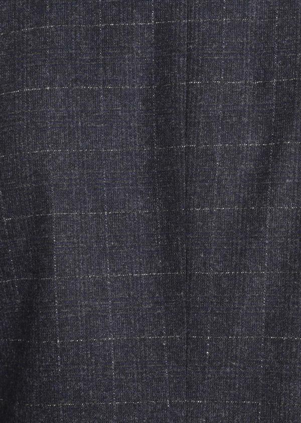 Veste coordonnable Regular en laine mélangée à carreaux gris - Father and Sons 37192