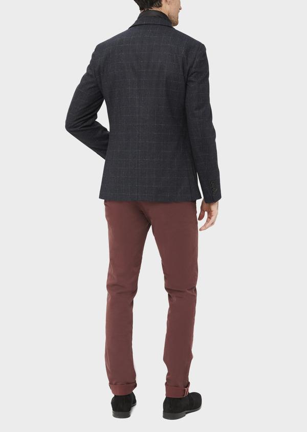 Veste coordonnable Regular en laine mélangée à carreaux gris - Father and Sons 37194