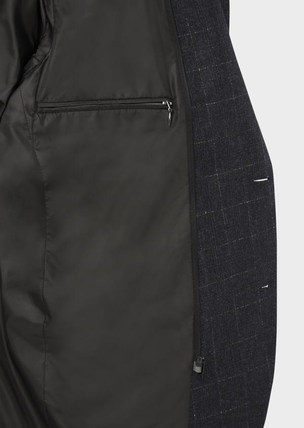 Veste coordonnable Regular en laine mélangée à carreaux gris - Father and Sons 37197