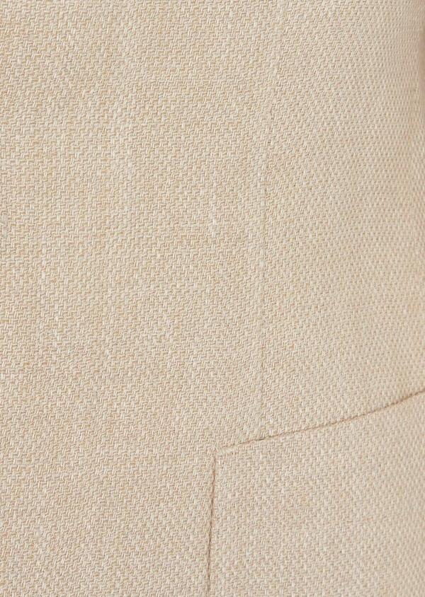 Veste coordonnable Regular en lin et coton uni beige foncé - Father and Sons 39967