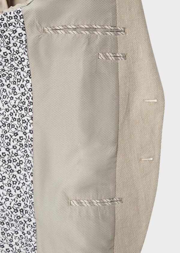 Veste coordonnable Regular en lin et coton uni beige foncé - Father and Sons 39972