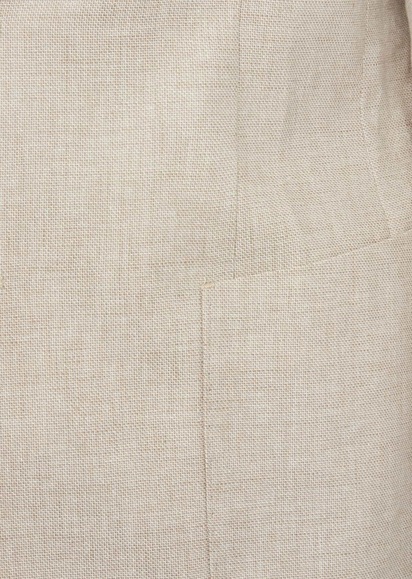 Veste coordonnable Regular en lin et coton uni beige - Father and Sons 39981