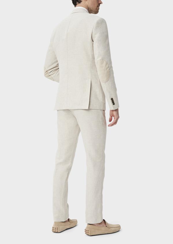 Veste coordonnable Regular en lin et coton uni beige - Father and Sons 39983