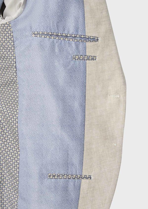 Veste coordonnable Regular en lin et coton uni beige - Father and Sons 39986