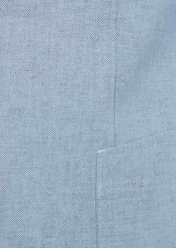 Veste coordonnable Regular en coton et lin uni bleu chambray - Father and Sons 39268