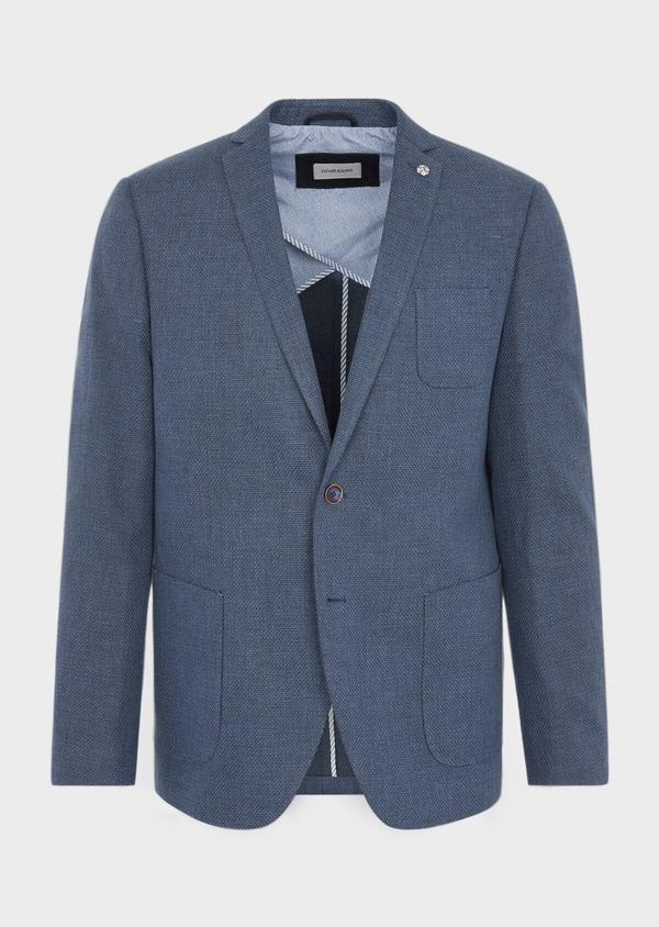 Veste casual Regular en coton bleu - Father and Sons 38948