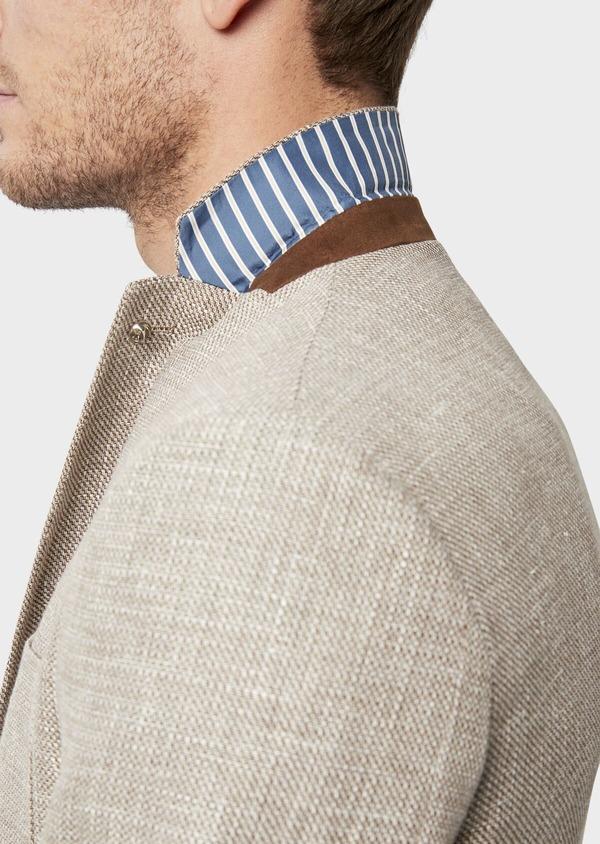 Veste casual Regular en lin et coton marron - Father and Sons 38924