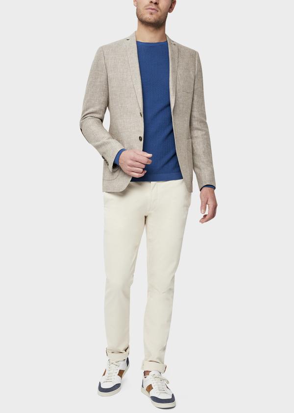 Veste casual Regular en lin et coton marron - Father and Sons 38922