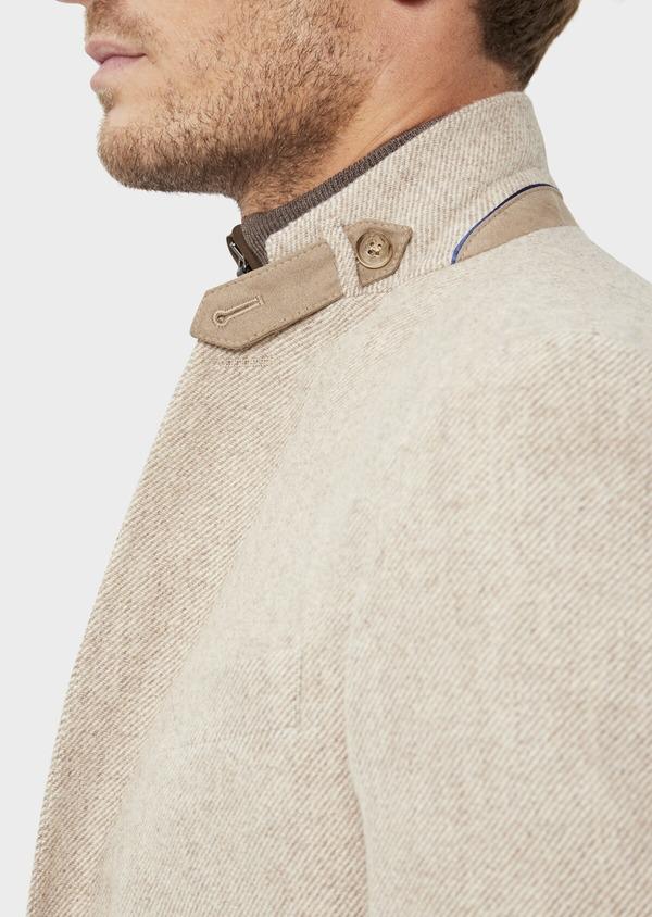 Veste casual Regular en laine mélangée unie camel - Father and Sons 36248