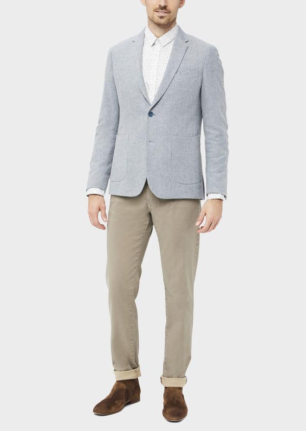 Veste casual Regular en laine mélangée grise - Father and Sons 36833