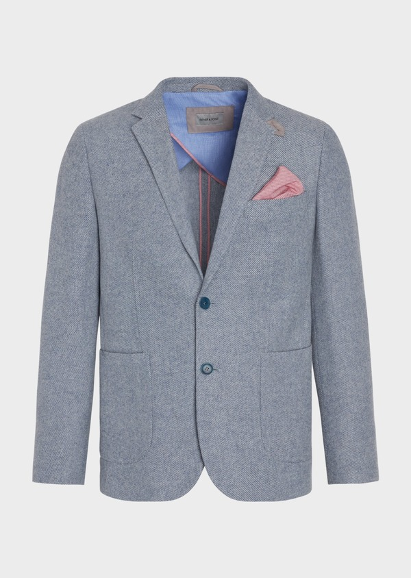 Veste casual Regular en laine mélangée grise - Father and Sons 36831