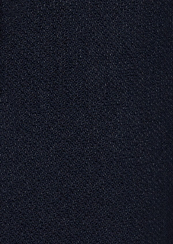 Veste casual regular en coton mélangé façonné bleu marine - Father and Sons 40599